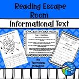 Escape Room - Nonfiction text - Test prep - Middle School
