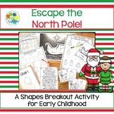 Escape Room: North Pole! Shapes Breakout Activity
