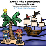 Escape Room (Pirate's Treasure)-2nd Grade Math Computation & Word Problems
