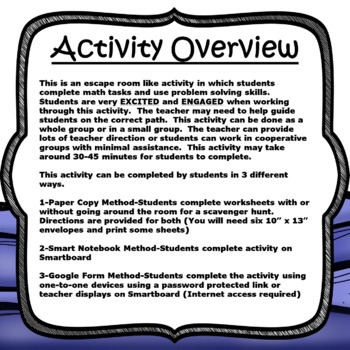 Escape Room (Pirate's Treasure)-2nd Grade Math Computation & Word Problems