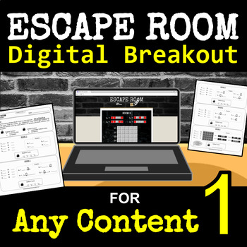 Escape Room for ANY SUBJECT - Digital Breakout - Back to School