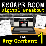 Escape Room for ANY CONTENT - Digital Breakout - Back to School