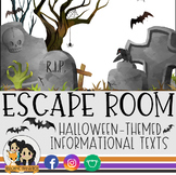Halloween Escape Room: Reading Informational Texts (Halloween Activity)