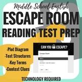Escape Room - Reading Test Prep - Middle School
