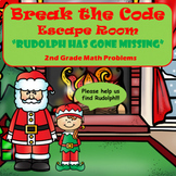 Escape Room (Rudolph is Missing)-2nd Grade Math Computation & Word Problems