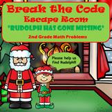 Escape Room (Rudolph is Missing)-2nd Grade Math Computatio