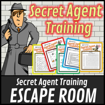 Escape Room: Secret Agent Spy Training Math Mystery