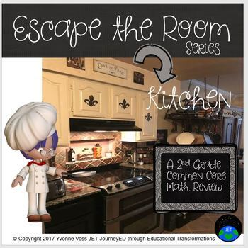Escape Room Series (Kitchen) A Second Grade Common Core Math Review