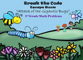 Escape Room (Attack of the Bugs)-1st Grade Math Calculation & Word Problems