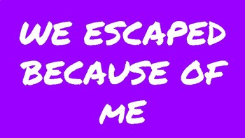 Escape Room Signs