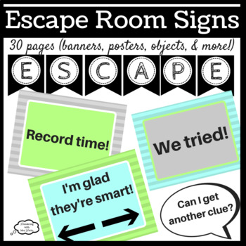 graphic regarding Free Escape Room Printable known as Escape Area Symptoms Worksheets Instruction Products TpT