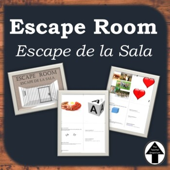 Escape Room Spanish Escape de La Sala de Clase Activity Set of 2