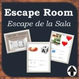 Escape Room Spanish Escape de La Sala de Clase Activity Set of 2