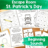 Escape Room: St. Patrick's Day! Beginning Sounds Breakout