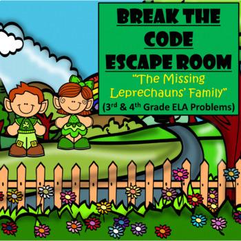 Escape Room (St. Patrick's Day Leprechaun Family)-3rd & 4th Grade Language Arts