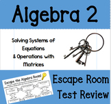 Escape Room: Systems of Equations Review