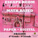 FREEBIE! Team Building Activity, Team Building Escape Room {Math Based Vocab}
