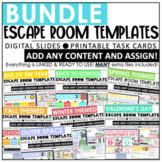 Escape Room Templates   Growing Bundle   Digital & Printable