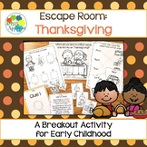 Escape Room: Thanksgiving! Sequencing Breakout Activity