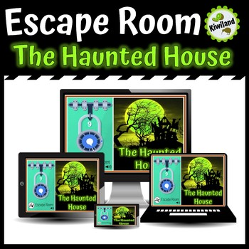 Escape Room: The Haunted House - Math Mystery Boom Learning Cards