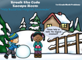 Escape Room (The Magical Snowman)-1st Grade Math Computation & Word Problems