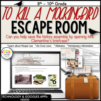 Digital Escape Room, To Kill A Mockingbird, Digital EscapeⓇ