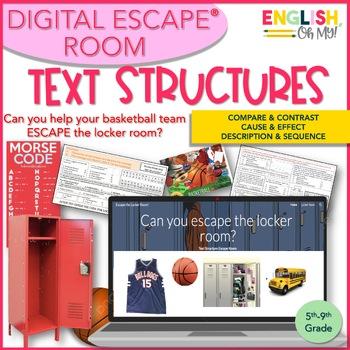 Text Structures Digital Escape Room, Digital Escape Ⓡ, Compare & Contrast