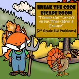 Thanksgiving-2nd Grade Digital Escape Room-Distance Learning-Google Forms-ELA