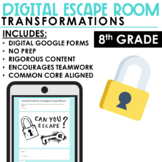 Escape Room   Transformations   Distance Learning   8th Grade