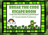 Escape Room (Trap the Leprechaun)-1st Grade Math Computation & Word Problems