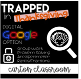 Escape Room Trapped in Math Class - Thanksgiving