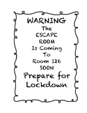 Escape Room Weather Task NC 5.E.1 Editable!
