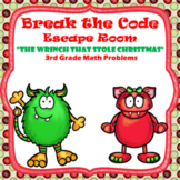 Escape Room (Who Stole Christmas)-3rd Grade Math Computation & Word Problems