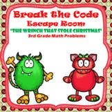 Escape Room (Who Stole Christmas)-3rd Grade Math Computati