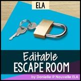 ELA Escape Room (editable)