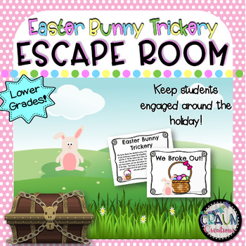 Escape Room for Classroom: Easter Bunny Trickery (lower grades)