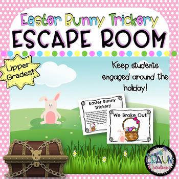 Escape Room for Classroom: Easter Bunny Trickery (3-5 grades)