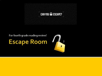 Escape Room for  ELA review