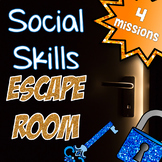 Escape Room for Social Skills Group - Counseling, Speech Tx, HFA, Team building