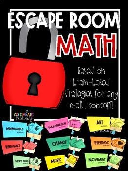 Escape Room for any Math Concept - BRAIN FRIENDLY!!!