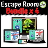 Escape Room x4 Bundle Math Mystery Boom Learning Task Cards