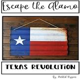 Escape The Alamo--Texas Revolution--4th Grade Texas History