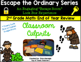 Escape The Ordinary Lock Box: Classroom Culprits 2nd Grade Math Review