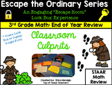 Escape The Ordinary Lock Box: Classroom Culprits 3rd Grade Math Review