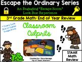 Escape The Ordinary Lock Box: Classroom Culprits 3rd Grade