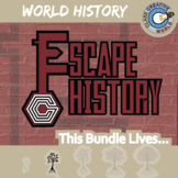 Escape World History -- 7+ Escape the Room Social Studies Games