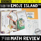 Escape from Emoji Island™ 3rd Grade Math Escape Room - Great Test Prep Review!