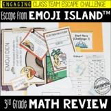 Escape from Emoji Island™ 3rd Grade Math Escape Room - Great Test Prep Review!