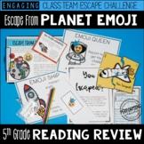 Escape from Planet Emoji 5th Grade Reading Escape Room - Test Prep Review!