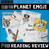 Escape from Planet Emoji 5th Grade Reading Escape Room - Test Prep Review!